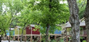 "We called them ""tree"" houses for a reason. Soak in the woodsy feel in comfort."